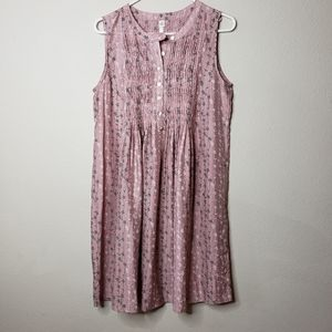 UNCLE FRANK Smocked Mauve floral dress Small